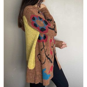 CARDIGAN FLORES BROWN