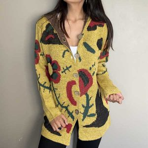 CARDIGAN FLORES  YELLOW